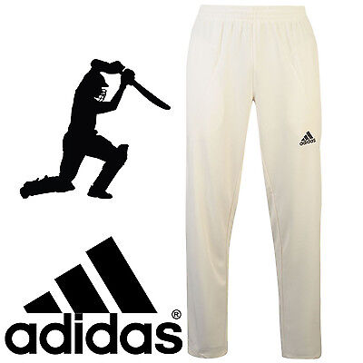 adidas Howzat Junior Cricket Trousers White Kids Boys Sports Trousers