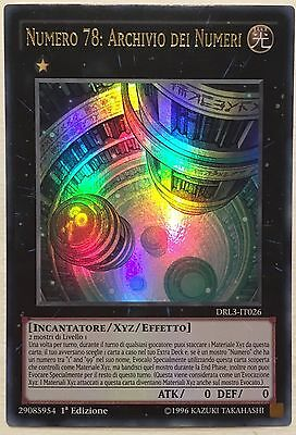 Numero 78: Archivio dei Numeri  DRL3-IT026 ULTRA RARA  MINT YUGIOH!