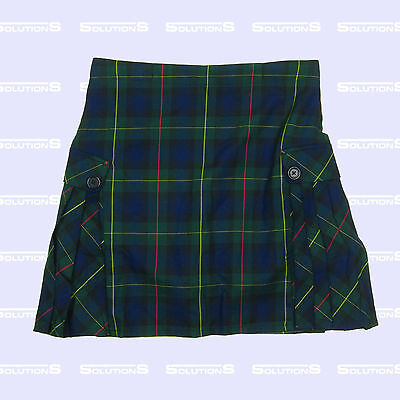 Lands End School Uniform Girls Regular Side Pleat Plaid Skort(Above The Knee) 12