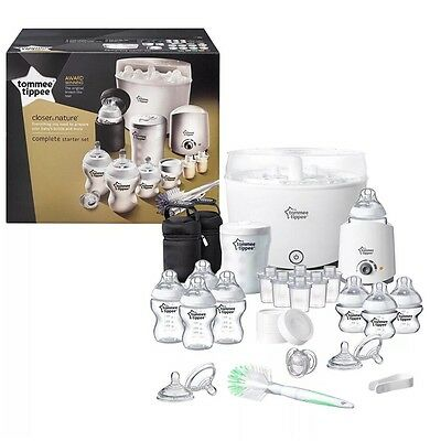 Tommee Tippee Closer to Nature complete Starter Kit Electric Steriliser Set