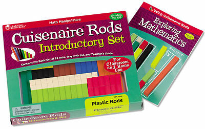 Learning Resources Cuisenaire Math Rods Set of 74  – NEW