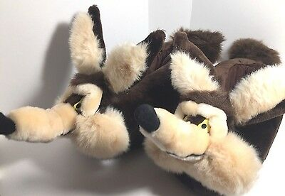 Vtg 1996 Warner Bros Wile E Coyote Plush House Slippers Shoes Adult Sz L Wylie
