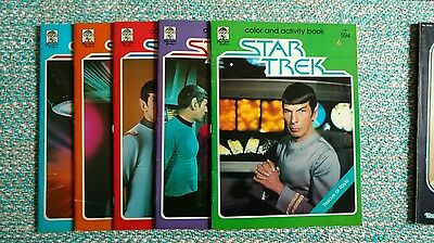 Vintage Star Trek Colouring Book Collectables