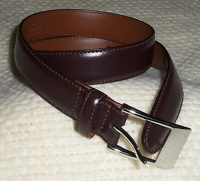 NEW MEN'S/BOY'S BROOKS BROTHERS Genuine Leather Brown Belt Size 24