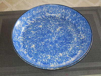 """Stangl Town and Country Blue Sponge 10 5/8"""" Pie Plate"""