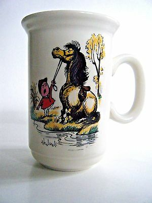 Vintage Norman Thelwell Coffee Mug 1960's Equestrian Cartoon Churchill England