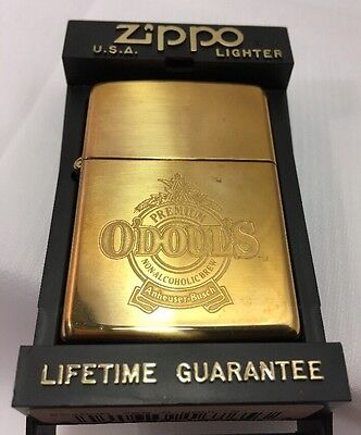 Zippo Lighter Sealed Engraved Anheuser Busch O'Doul's Brass 254BAB 765  E 1993
