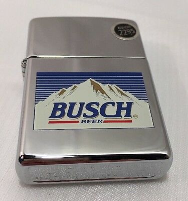 Zippo Lighter Sealed Anheuser Busch Beer 250AB 754 High Polish Chrome A 1996