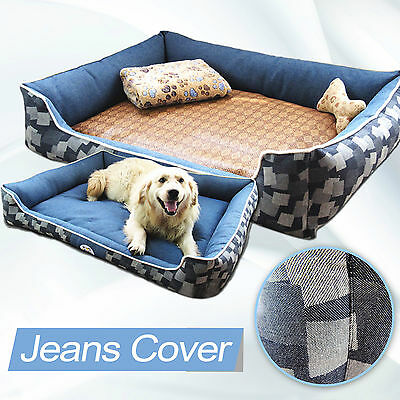 B-804 Extra Large Dog Bed Cat Pet Pillow Fleece 110x80CM Detachable and Washable