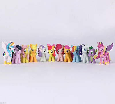 12Pcs/Set 5CM My Little Pony Cake Toppers Doll Action Figures Toy PVC Twilight
