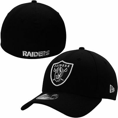 Oakland Raiders New Era 39THIRTY Team Classic Stretch Fit Flex Cap Hat 3930