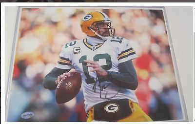 323c37859 AARON RODGERS  HAND-SIGNED card Auto Autographed Green Bay Packers ...