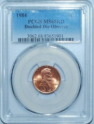 1984 PCGS MS68RD FS-101 Red Doubled Die Obverse Double Ear Lincoln Cent Finest