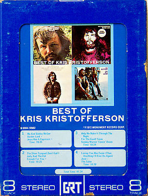KRIS KRISTOFFERSON The Best Of 8 TRACK TAPE  CARTRIDGE