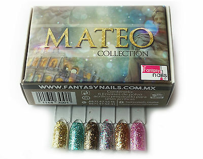 Fantasy Nails Sinaloa - Acrylic Powder MATEO Collection 6 pcs  * Hard To Find *