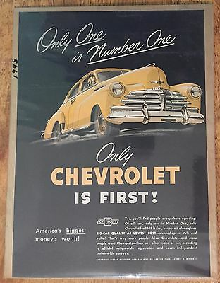 Vintage 1948 Chevrolet Advertisement - General Motors Chevy - Detroit, Michigan