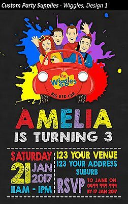 The Wiggles Birthday Party Invites Invitations Personalised AUST Wiggle