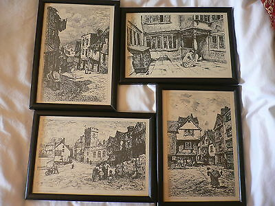 Etchings (4 of them).c.1900 N.H.J.Baird(1865-1936). Exeter. From Original Plates