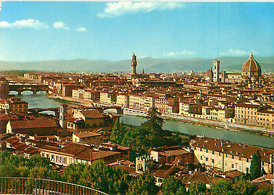 Firenze Italy Aerial View River City View  Postcard  # 7780