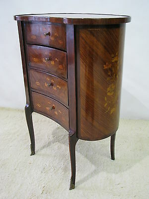 Signed PAUL SORMANI French Inlaid Kidney Shaped Chest / Table c. 1870