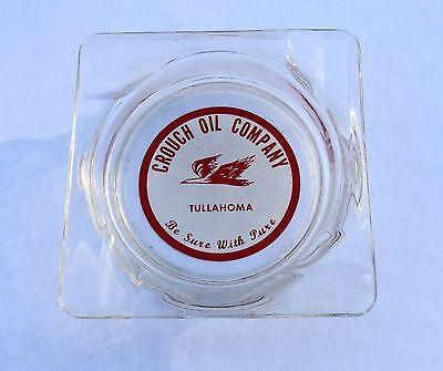 Pure Oil Co. Crouch Oil Co. Ash Tray Tullahoma, Tennessee 1950's