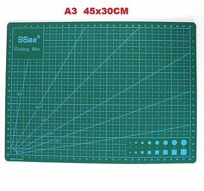 A3 Double Sided Self Healing Rotary Knife Cutting Mat Paper Cut Board 45*30C, AU