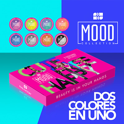 Nail Factory - Acrylic Nail Powder Mood  8pcs - Color Change Works W dip System
