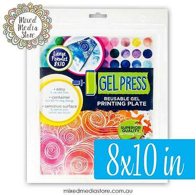 NEW GEL PRESS Gelli Plate/Gelli Printing Plate 8×10 in FAST POST!