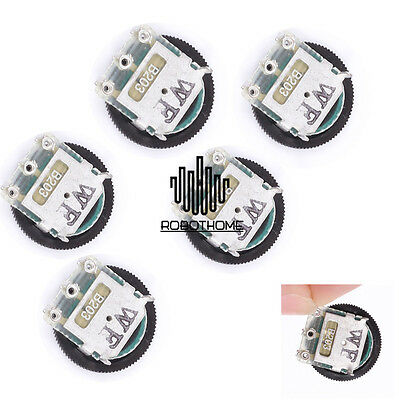 10PCS B203 Gear Potentiometer 20K Single Joint Dial Potentiometer 14 X 1MM