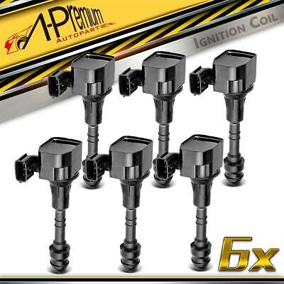 6x Ignition Coils for Nissan Maxima J31 Murano Z50 Navara D40 Pathfinder R51
