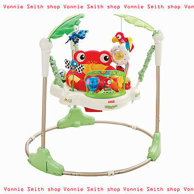 Fisher Price Rainforest Jumperoo Comfortable 360 Rotating Seat Free Shipping