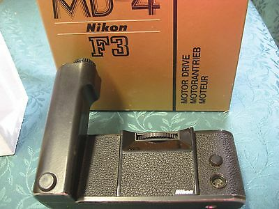 Nikon MD-4 Motor Drive for F3 in Original Box with Manual