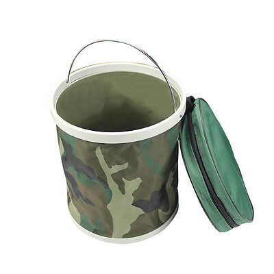 11L Outdoor New Bait Folding Portable Fishing Collapsible Water Bucket 7296HC