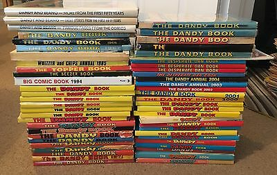 Huge Collection Bundle Of Dandy Annuals Books Comics Collectible Vintage Lot