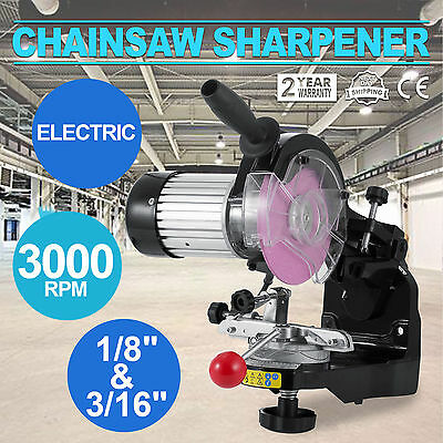 Chainsaw Sharpener 230W Alloy Chain Saw Bench Lock Mount Electric Grinder Tool