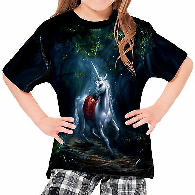 Magical Animals Unicorns Forests Girls Kid Youth T-Shirt Tee wd1 agp40687