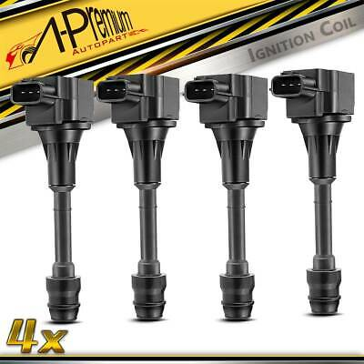 4x Ignition Coils for Nissan Xtrail X-Trail T30 T31 2001-2013 2.5L QR25DE Engine