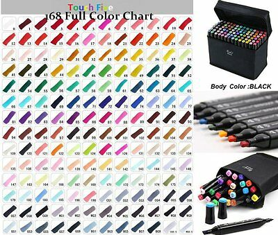 Touch New Marker Pen 168 General Color Graphic Art Twin Broad Fine Point+ Gift