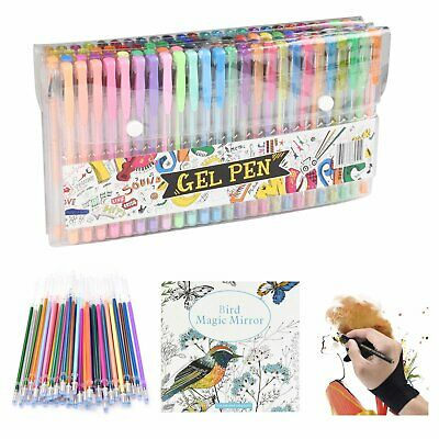 Professional 100 Color Gel Pen Paint Book Craft Drawing Glitter Neon Metallic