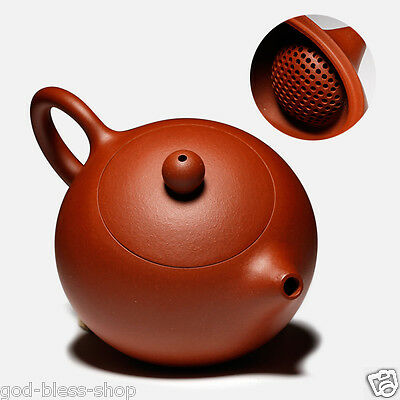 authentic yixing zisha Qingshui clay tea pot marked ball infuser holes on sales