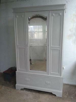 Beautiful Vintage Victorian Double Wardrobe Painted in Annie Sloan