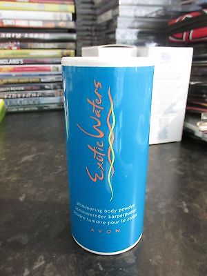 Avon Exotic Waters Shimmering Perfumed Talcum Body Powder Talc 40G Discontinued