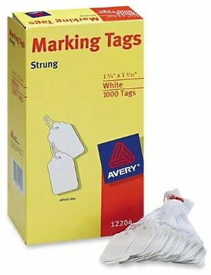 Avery White Marking Tags Cardstock With Strings - Pack Of 1,000 - NEW! - NO TAX!