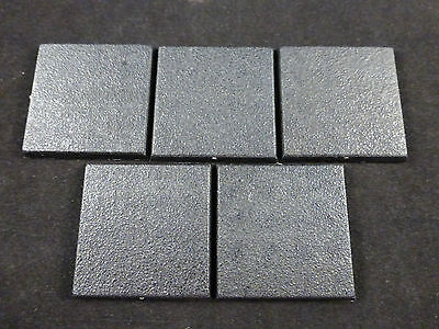 Games Workshop Warhammer Fantasy 40mm Square Closed Model Bases (5)