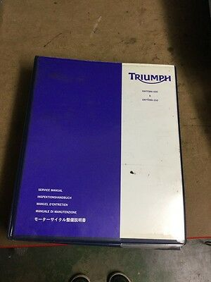 Triumph Daytona 600 & 650 Genuine Service Manual