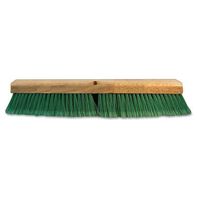Push Broom Head, 3 Inch Green Flagged Recycled Pet Plastic, 24 Inch