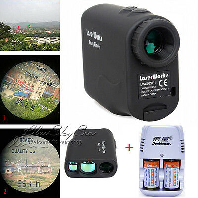 7.2°View Angle Laser Range Finder portable 600m with 5 modes+2xBattery&Charger