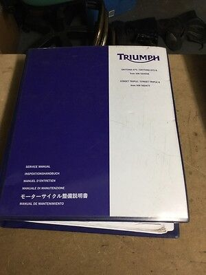 Triumph Daytona 675 & 675R Street Triple 675 & 675R Genuine Service Manual