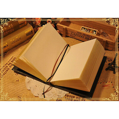Classic Hard Cover Diary Notebook Journal Notepad Sketchbook Thick Blank Pages