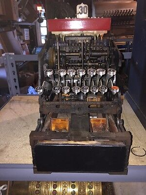 Antique Barber Shop Candy Store National Cash Register MECHANISM With DRAWER NCR